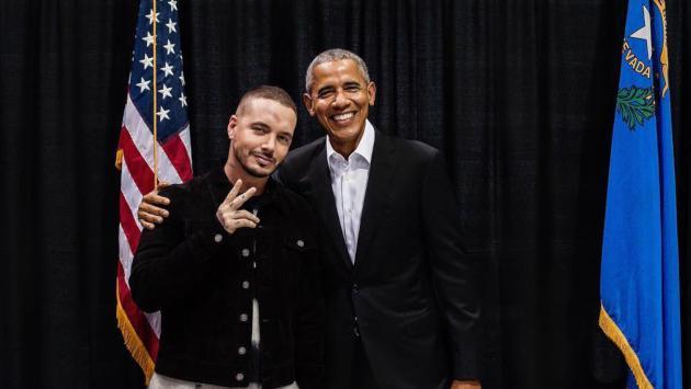 J Balvin Con El Preseidente Barack Obama